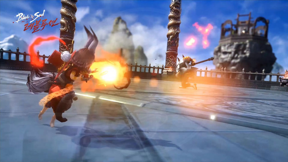 ブレイドアンドソウル レボリューション(Blade&Soul Revolution) バトルアクションスクリーンショット