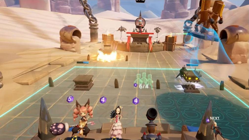 Blade&Soul Table Arena (ブレイドアンドソウルテーブルアリーナ) ゲーム画面で確認できる利用可能なユニットと次ターン登場するユニットのスクリーンショット