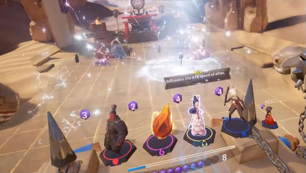 Blade&Soul Table Arena (ブレイドアンドソウルテーブルアリーナ) ユニット毎に変化するスキル発動スクリーンショット