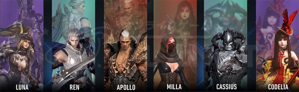 AION Legions of War (アイオン レギオンズ オブ ウォー) クラス『グラディエーター』と『アサシン』のヒーロー、英雄キャラクターイメージ