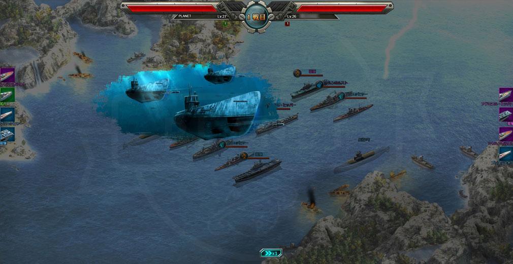 第一艦隊 BATTELE OF THE HORIZON(BOH) 『潜水艦』からの魚雷攻撃スクリーンショット