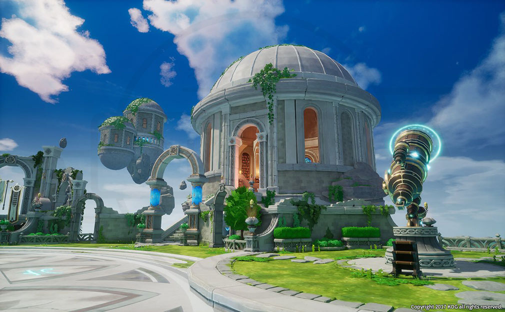 KurtzPel (カーツペル) 『チェイスアジト』コンセプトアートのゲーム内実装スクリーンショット