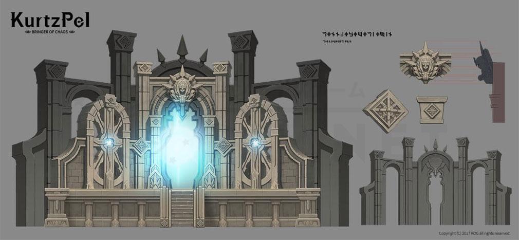 KurtzPel (カーツペル) 古代文明の遺跡『秘密の扉(The Secret Gate)』コンセプトアート