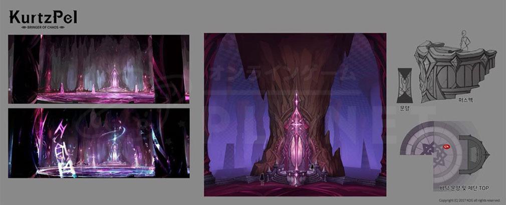 KurtzPel (カーツペル) 『魔獣の洞窟(Caverns of Beast)』の原画