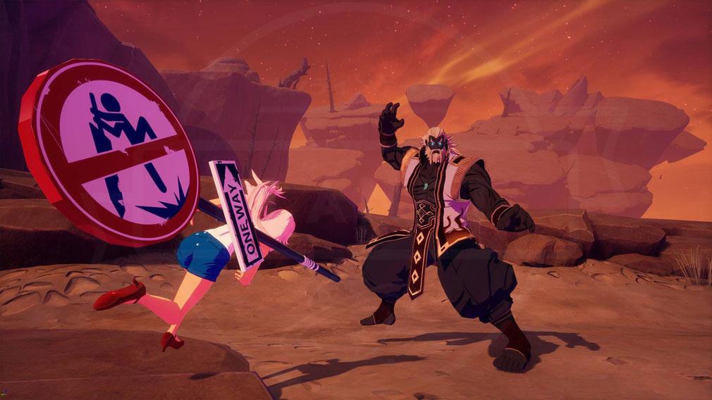 KurtzPel (カーツペル) 『黒格闘マスター(Black Fight Master)』とのバトルスクリーンショット