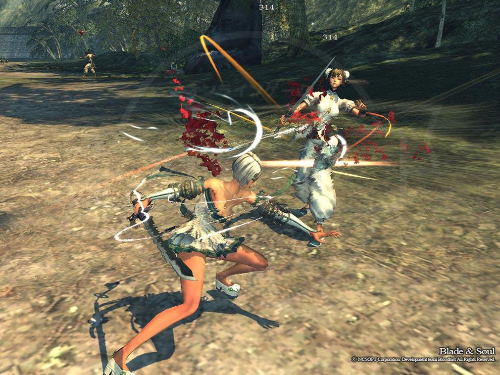 MMORPG「ブレイドアンドソウル(Blade and Soul)」アクションスクリーンショット