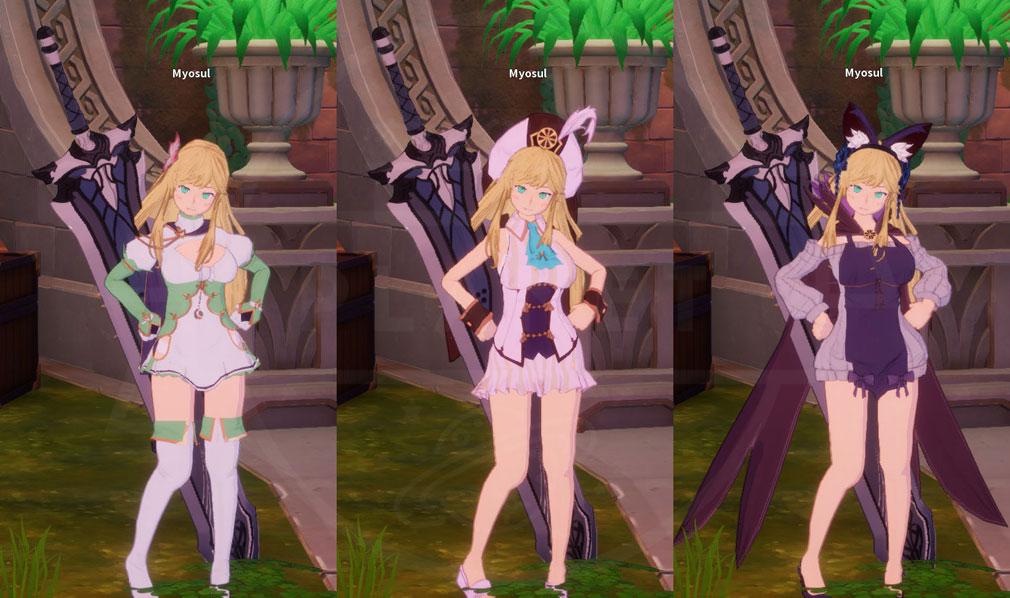 KurtzPel (カーツペル) メインキャラクターのコスチューム着せ替えスクリーンショット