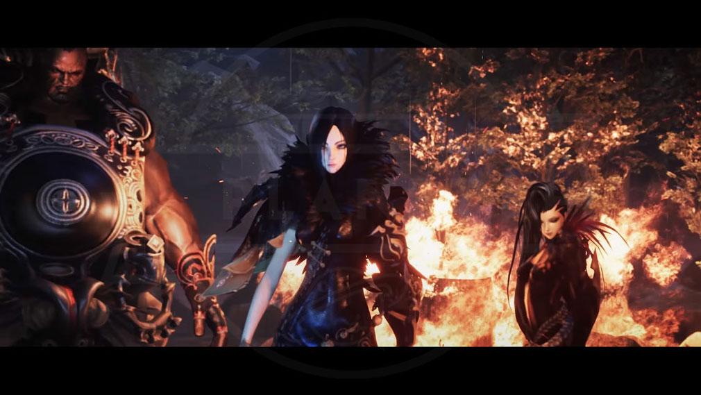ブレイドアンドソウル レボリューション(Blade&Soul Revolution) 魔皇の手下で、ホン門派を壊滅に導いた人物『ジン・ヴァレル』とジン・ヴァレルの部下でありながら武神との縁を持つ『ユ・ラン』登場のスクリーンショット