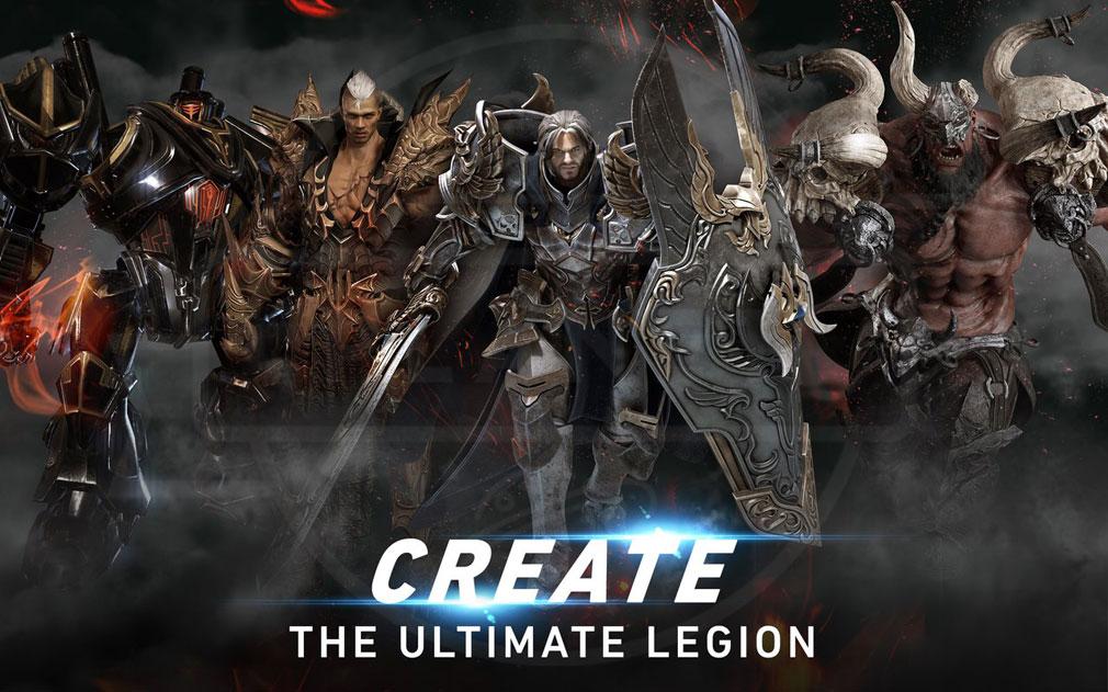 AION Legions of War (アイオン レギオンズ オブ ウォー) 自分のチームとなる『レギオン』編成イメージ