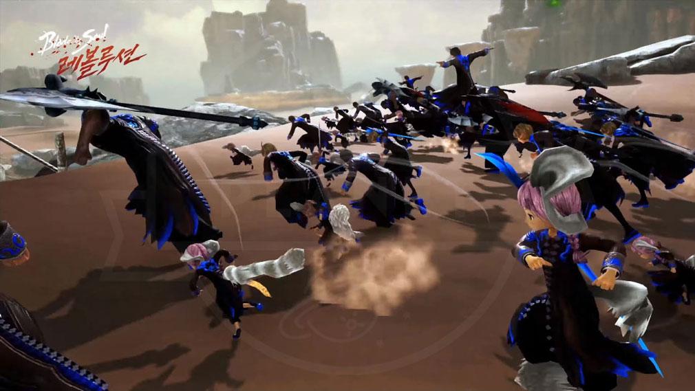 ブレイドアンドソウル レボリューション(Blade&Soul Revolution) 『渾天教』対『武林盟』のオープンフィールドRvRスクリーンショット