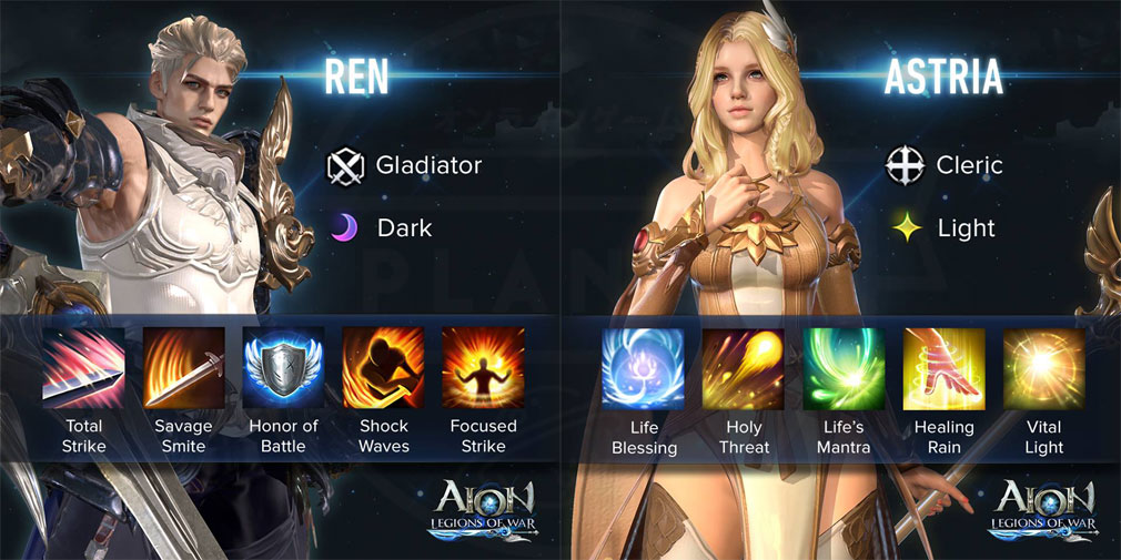 AION Legions of War (アイオン レギオンズ オブ ウォー) ヒーローキャラクター『REN』、『ASTRIA』