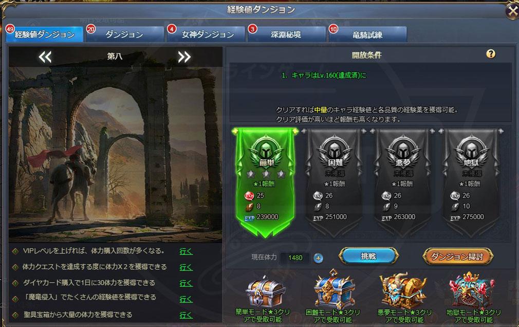 騎士と翼のフロンティア 種類豊富なダンジョンのスクリーンショット