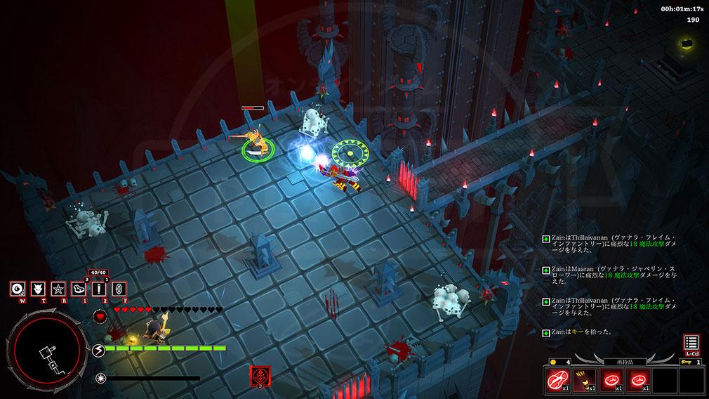 アシュラ(ASURA) 『Diablo(ディアブロ)』や『アイザック』にインスパイアされた俯瞰視点のアクションスクリーンショット