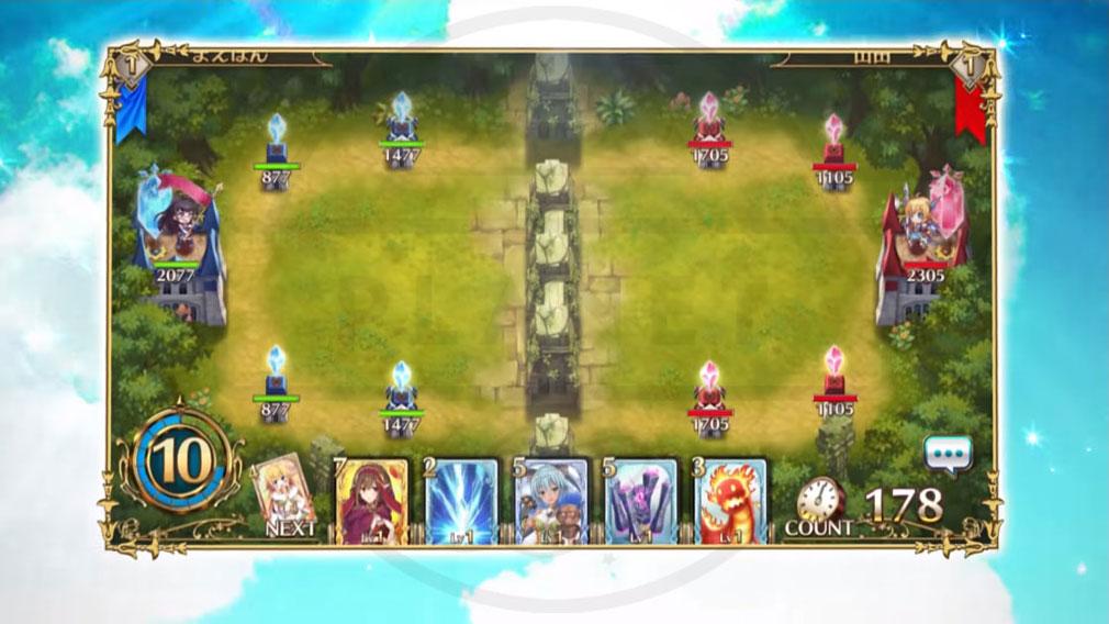 剣と幻想のアカデミア(剣アカ) PC バトルフィールドの各陣拠点スクリーンショット