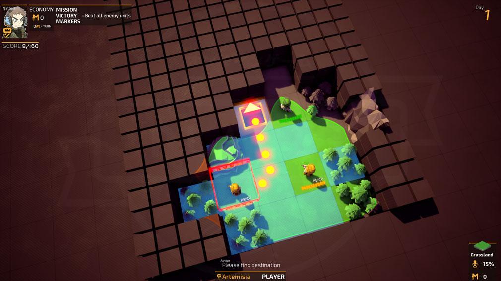 TINY METAL(タイニーメタル) PC ゲーム開始画面スクリーンショット