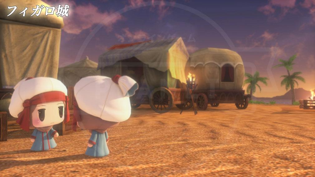 World of Final Fantasy Steam (ワールドFF) WOFF エリア『フィガロ城』の砂漠地帯スクリーンショット