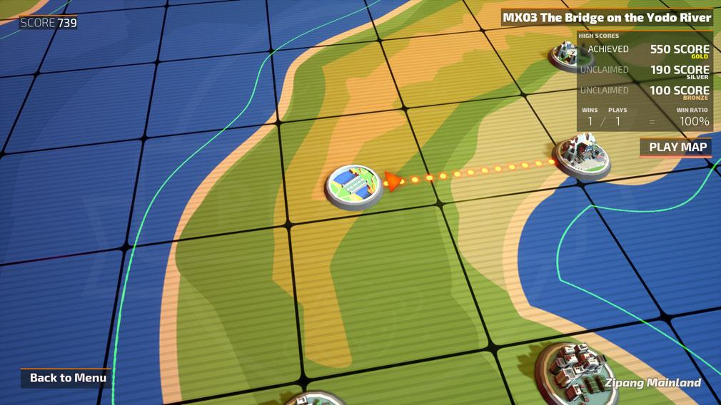 TINY METAL(タイニーメタル) PC ストーリーモードメニュー画面スクリーンショット