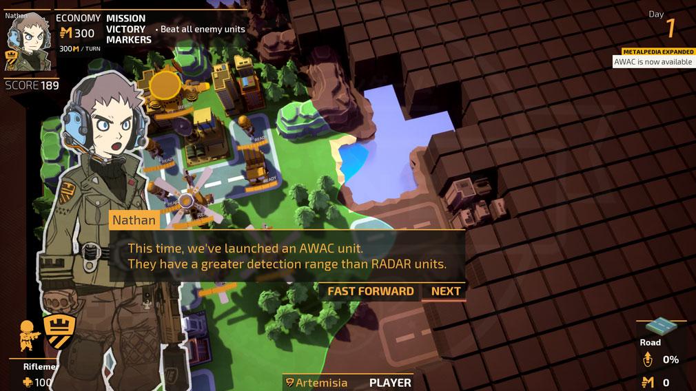TINY METAL(タイニーメタル) PC ストーリーモードのシナリオパートスクリーンショット