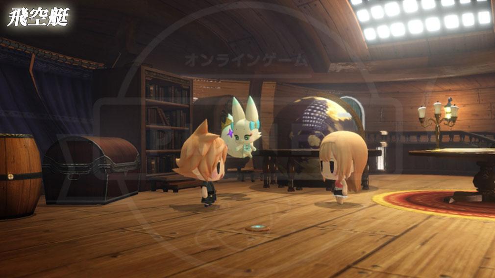 World of Final Fantasy Steam (ワールドFF) WOFF 飛空艇内スクリーンショット