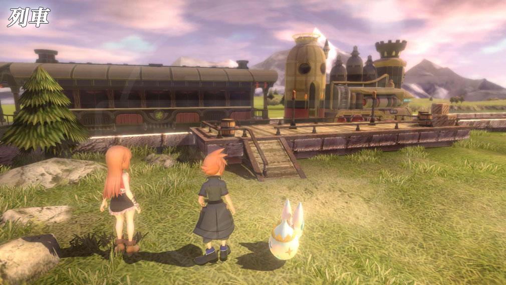 World of Final Fantasy Steam (ワールドFF) WOFF 列車スクリーンショット