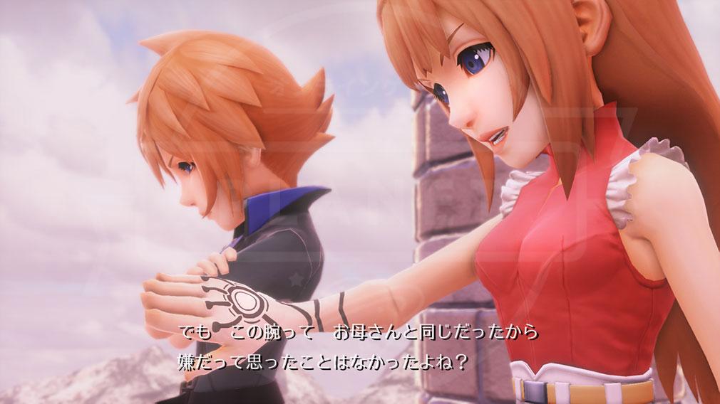 World of Final Fantasy Steam (ワールドFF) WOFF 片腕に不思議な力を宿す双子の主人公の姉の『レェン』と弟の『ラァン』シナリオスクリーンショット