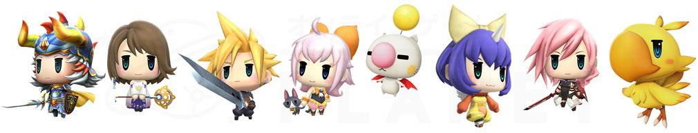 World of Final Fantasy Steam (ワールドFF) WOFF 『FFレジェンドキャラクター』一部紹介イメージ