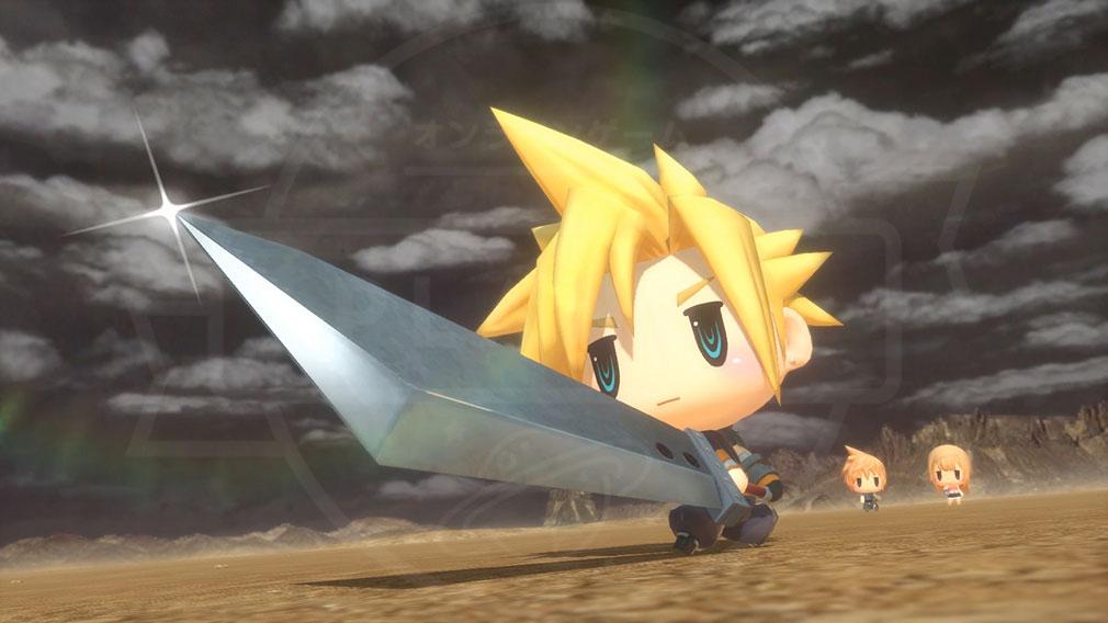 World of Final Fantasy Steam (ワールドFF) WOFF 『FFレジェンドキャラクター』クラウドのバトルスクリーンショット