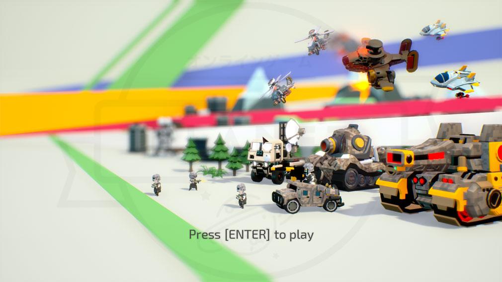 TINY METAL(タイニーメタル) PC ゲームスタート画面スクリーンショット