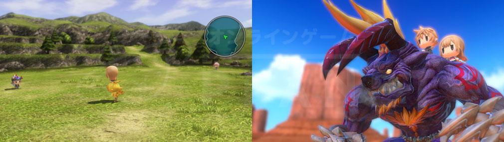 World of Final Fantasy Steam (ワールドFF) WOFF 【ノリノリ】でフィールドを移動するスクリーンショット