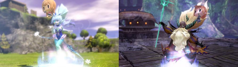 World of Final Fantasy Steam (ワールドFF) WOFF 2頭身の『プリメロ』サイズでのバトルスクリーンショット