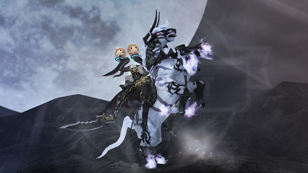 World of Final Fantasy Steam (ワールドFF) WOFF 特大サイズの『メガミラージュ』召喚バトルスクリーンショット
