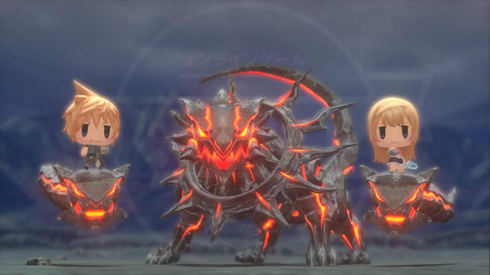 World of Final Fantasy Steam (ワールドFF) WOFF メガミラージュ『ケルベロス』召喚スクリーンショット