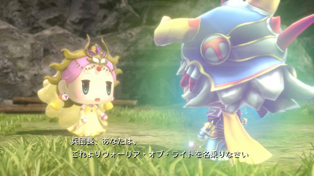 World of Final Fantasy Steam (ワールドFF) WOFF セーラ姫と伝説の光の戦士ウォーリア・オブ・ライト覚醒の瞬間を目撃するストーリーのスクリーンショット
