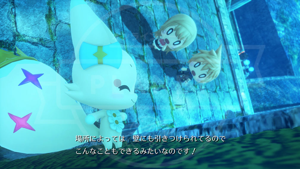 World of Final Fantasy Steam (ワールドFF) WOFF 海底神殿のシナリオパートスクリーンショット