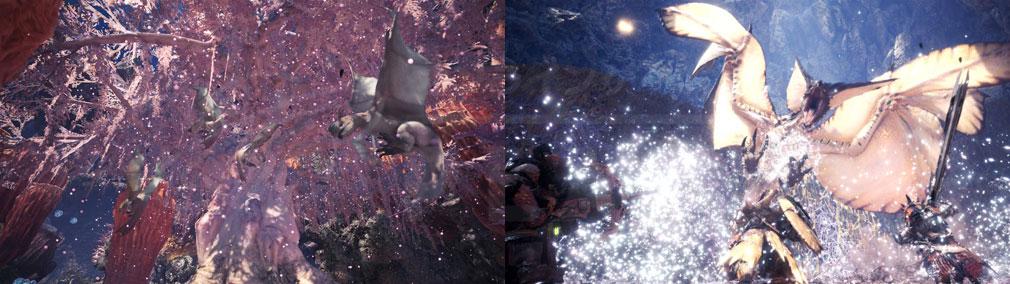 MONSTER HUNTER: WORLD(モンハンワールド)MHW PC フィールド『陸珊瑚の台地』、主『風漂竜 レイギエナ』