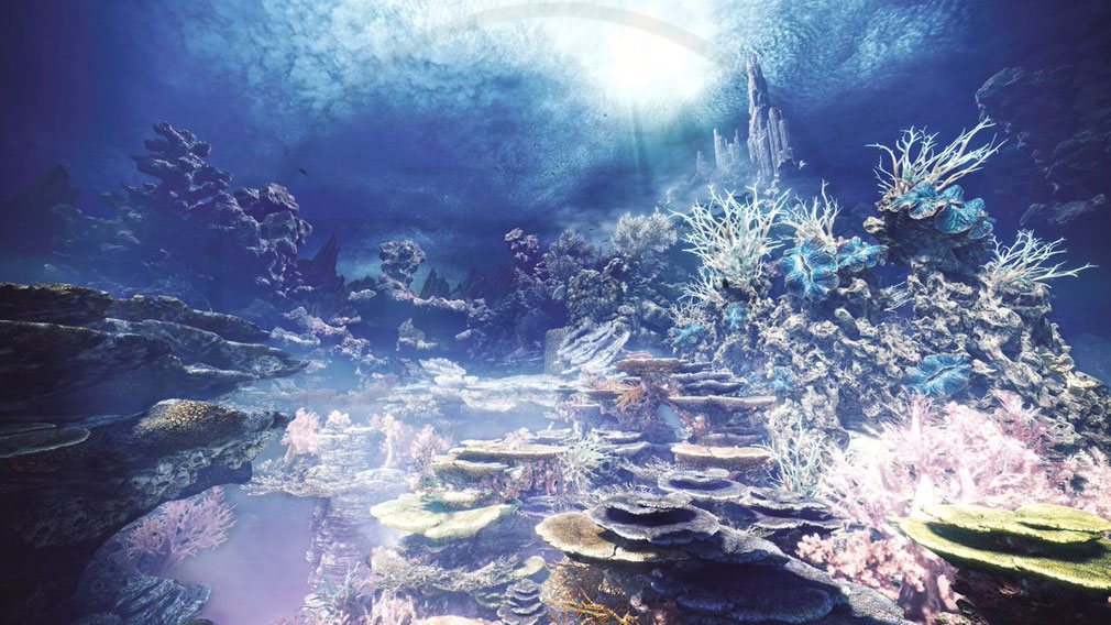 MONSTER HUNTER: WORLD(モンハンワールド)MHW PC 神秘的なフィールド『陸珊瑚の台地』