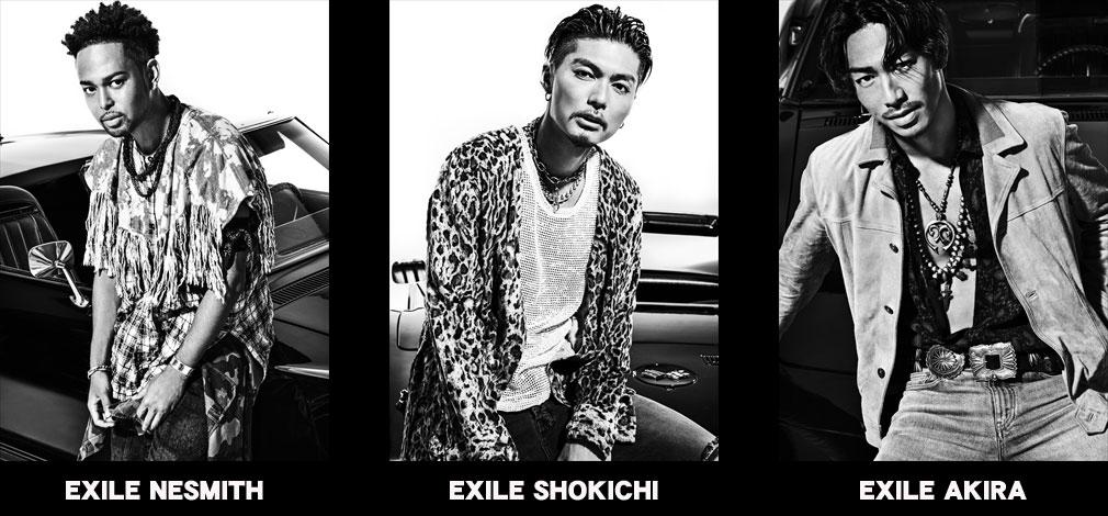 『EXILE THE SECOND』メンバー EXILE NESMITH、EXILE SHOKICHI、EXILE AKIRA