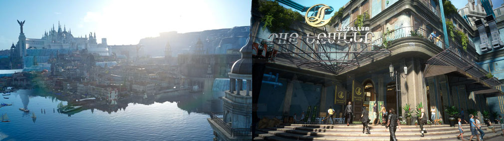 FINAL FANTASY15 (ファイナルファンタジー15)FF15 WINDOWS EDITION PC リアルな高品質グラフィックスの水都オルティシエ、街中イメージ