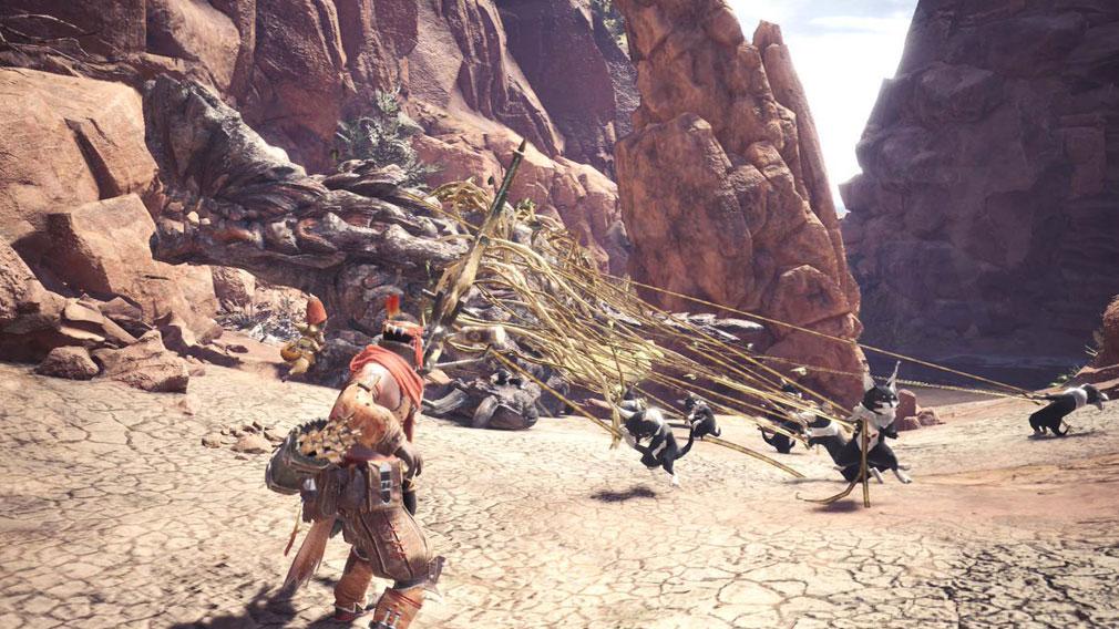 MONSTER HUNTER: WORLD(モンハンワールド)MHW PC フィールド毎に部族を成す獣人族『テトルー』スクリーンショット