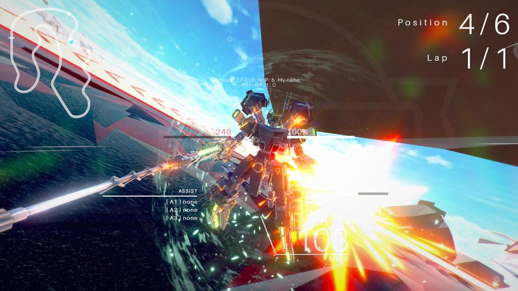 BREAK ARTS 2 (ブレイクアーツ 2) PC 人型になってのレーシングバトルスクリーンショット