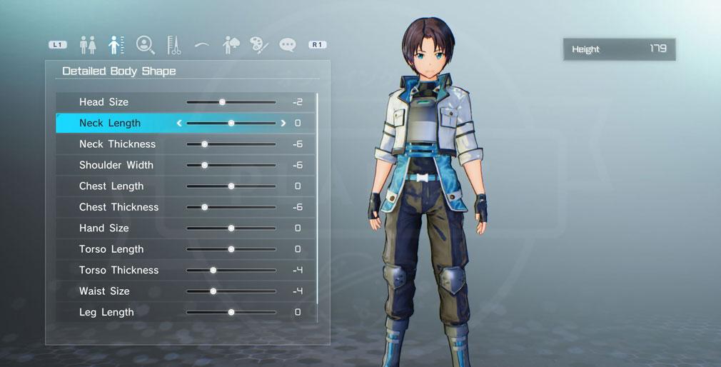 SAOフェイタル・バレット (ソードアート・オンライン) PC キャラクタークリエイトスクリーンショット