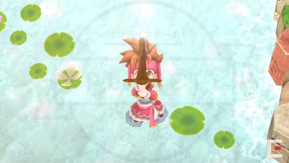 聖剣伝説2 SECRET of MANA(シークレット オブ マナ) PC 主人公『ランディ』が剣を手にするシーンイメージ