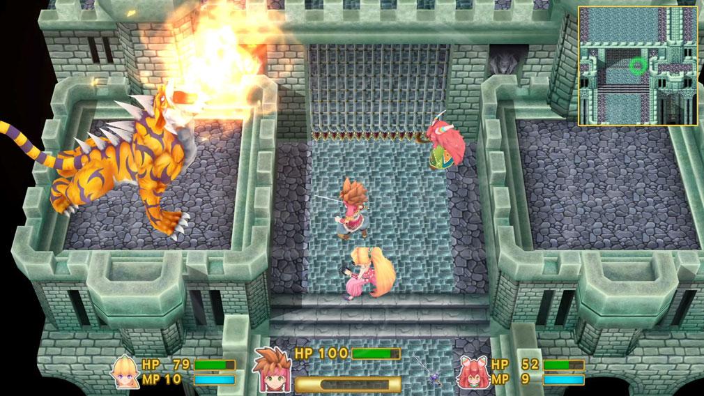 """聖剣伝説2 SECRET of MANA(シークレット オブ マナ) PC リアルタイム戦闘システム""""モーションバトル""""のスクリーンショット"""