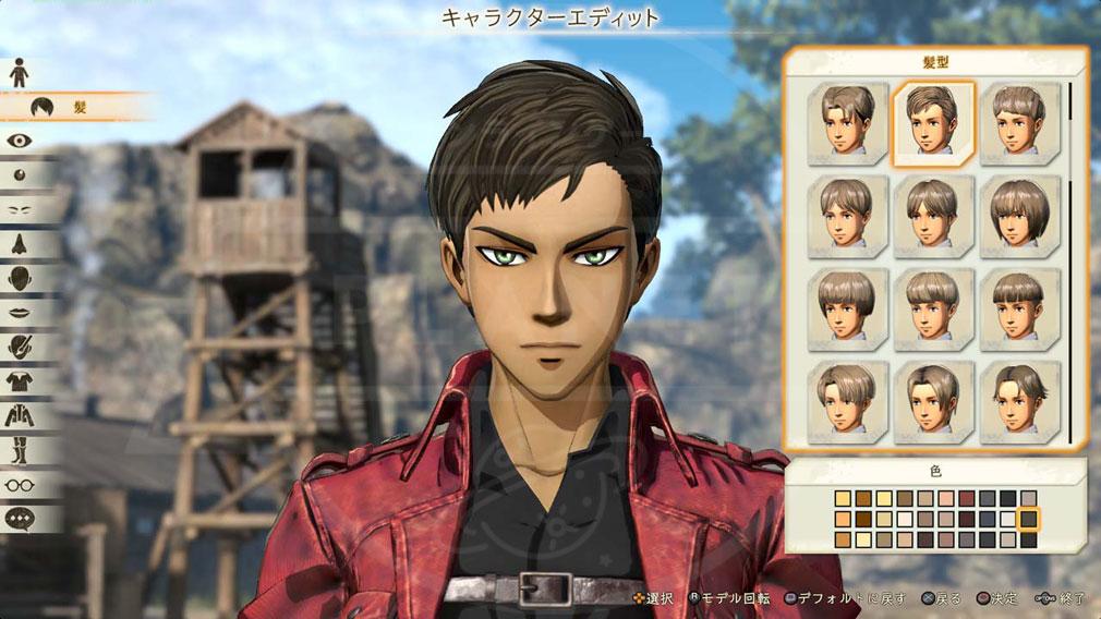 進撃の巨人2 PC 男性キャラクターエディット画面スクリーンショット