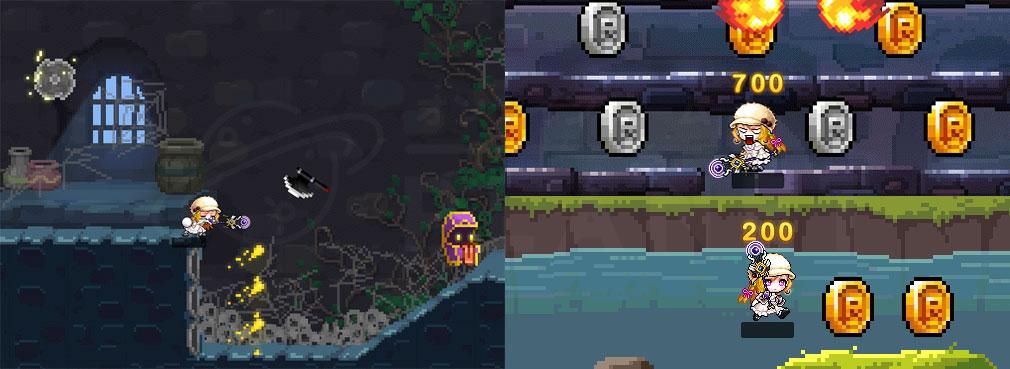 メイプルストーリー(MAPLE STORY) PC 『レトロワールド』でのアクションスクリーンショット