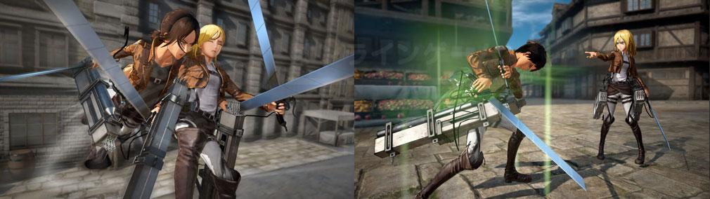 進撃の巨人2 PC かばってくれたり、プレイヤーを回復したりする『バディアクション』スクリーンショット