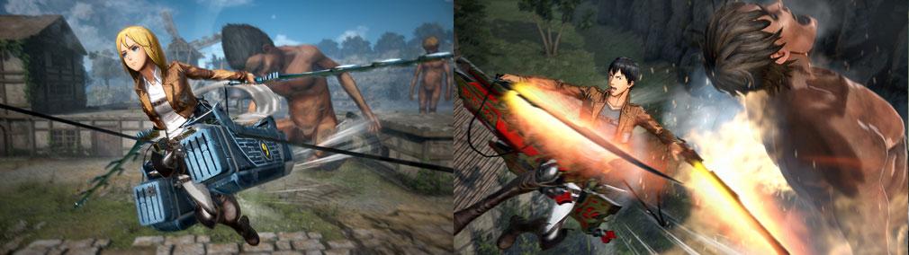 進撃の巨人2 PC 分厚い刀身や鎌のような刀身や、クリスタルのような刀身など全16シリーズ存在する『装備品』スクリーンショット
