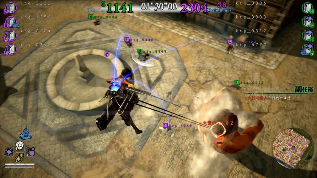 進撃の巨人2 PC 『殲滅モード』バトルスクリーンショット