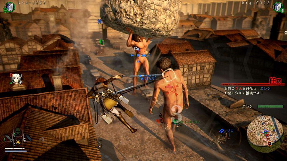 進撃の巨人2 PC 名シーンを二人で協力プレイする『ストーリーモード』スクリーンショット