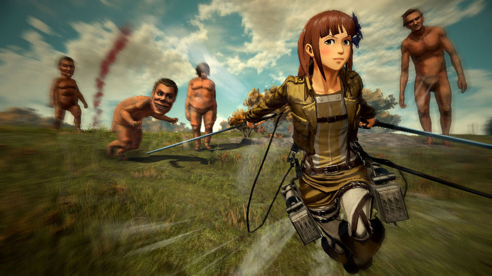 進撃の巨人2 PC オリジナルキャラクターでバトル中のスクリーンショット